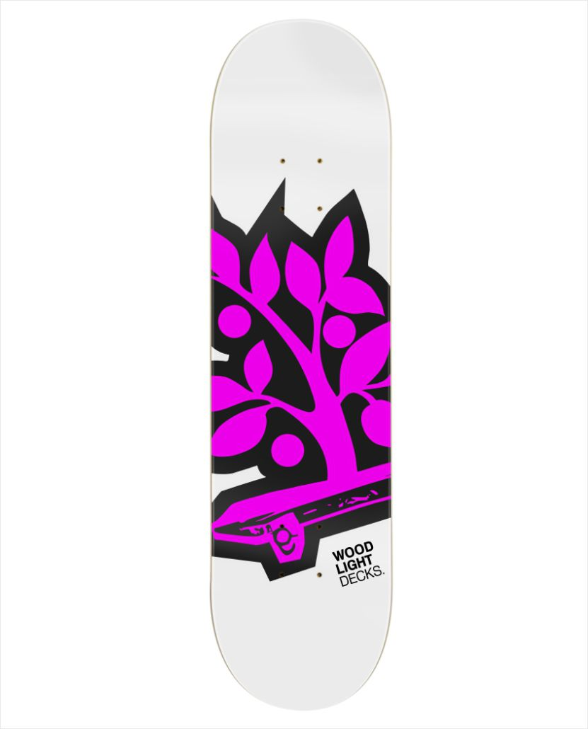 "Shape Wood Light - Maple Logotipia Pink 8.25""  - No Comply Skate Shop"