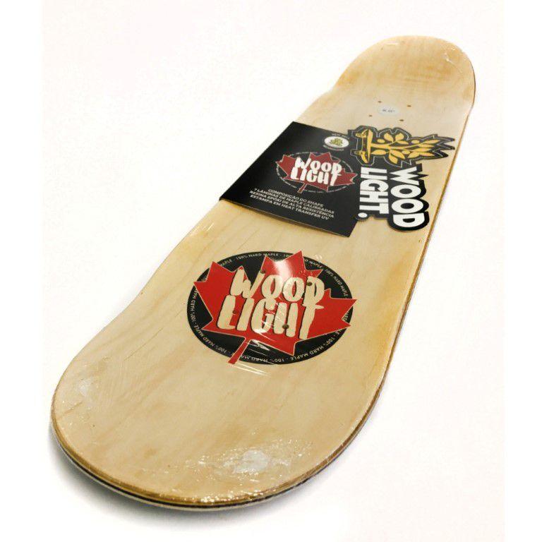Shape Wood Light - Maple Logotipia Yellow  - No Comply Skate Shop