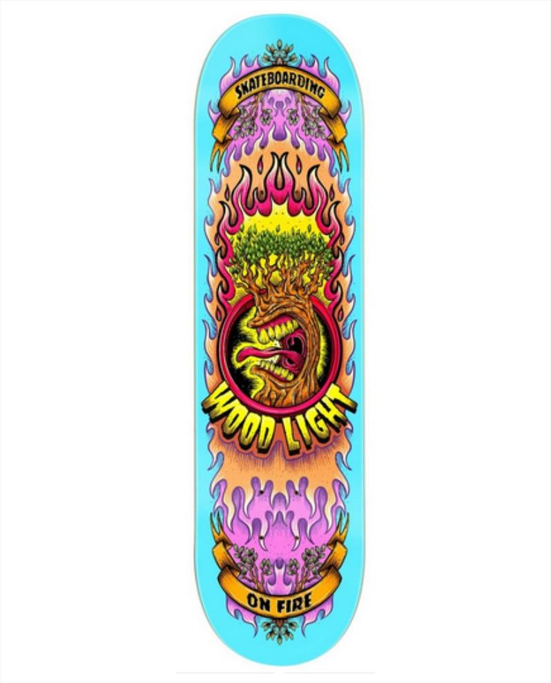 """Shape Wood Light - Maple On Fire Cian 8.125""""  - No Comply Skate Shop"""