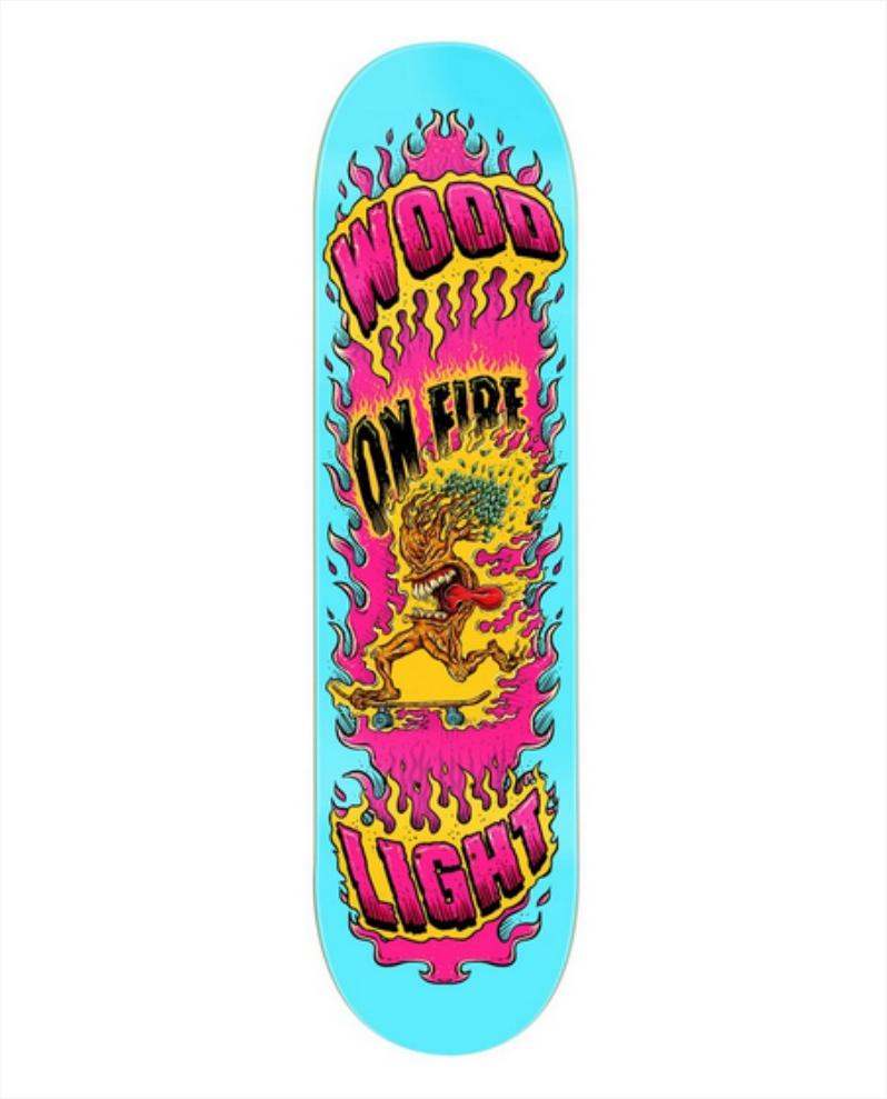 """Shape Wood Light - Maple On Fire Cian 8.25""""  - No Comply Skate Shop"""