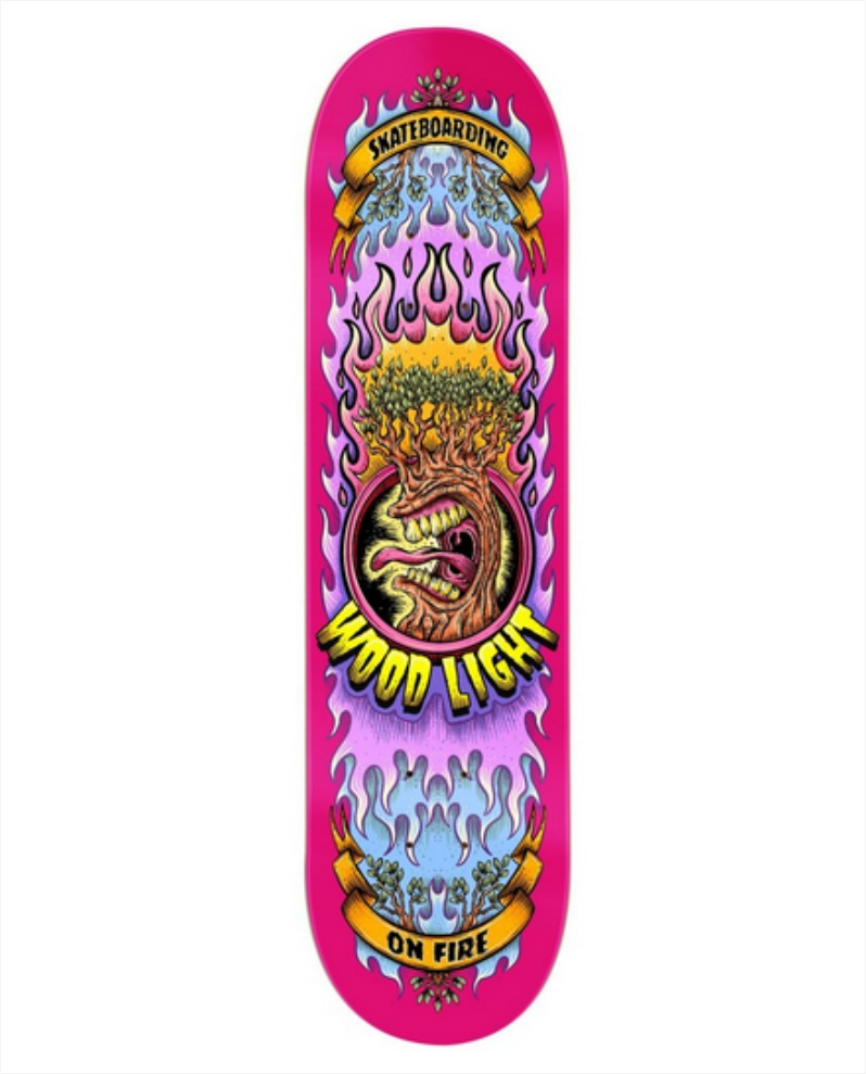 "Shape Wood Light - Maple On Fire Pink 8.0""  - No Comply Skate Shop"