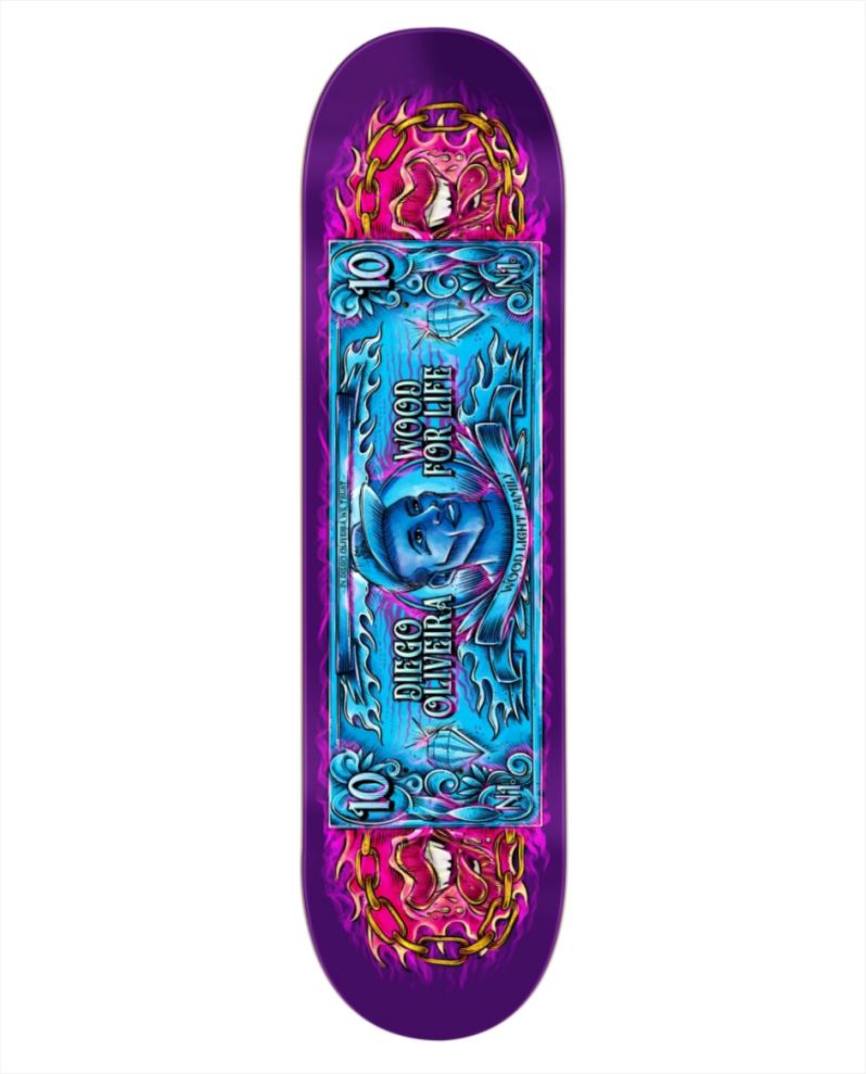 "Shape Wood Light - Maple Pro Model Diego Oliveira 8.25""  - No Comply Skate Shop"