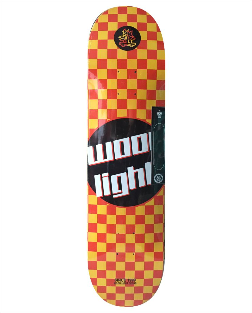"""Shape Wood Light - Wood Eight Checkerboard 8.0""""  - No Comply Skate Shop"""