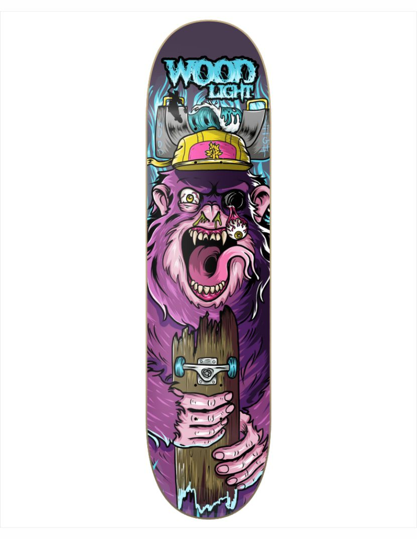 "Shape Wood Light - Wood Eight Freak Show V 8.25""  - No Comply Skate Shop"