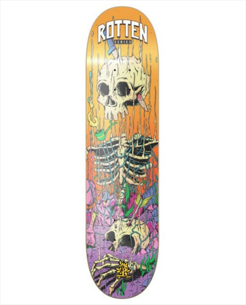 "Shape Wood Light - Wood Eight Rotten Laranja 8.0""  - No Comply Skate Shop"