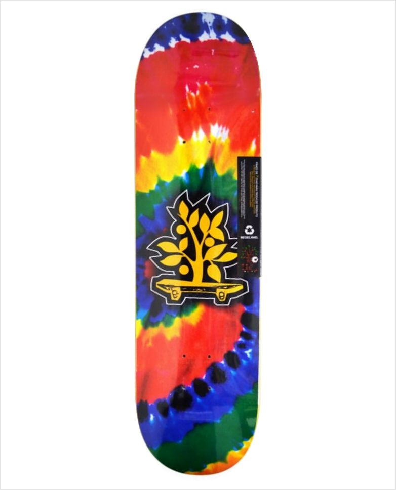 "Shape Wood Light - Wood Eight Tie Dye Spiral 8.0""  - No Comply Skate Shop"