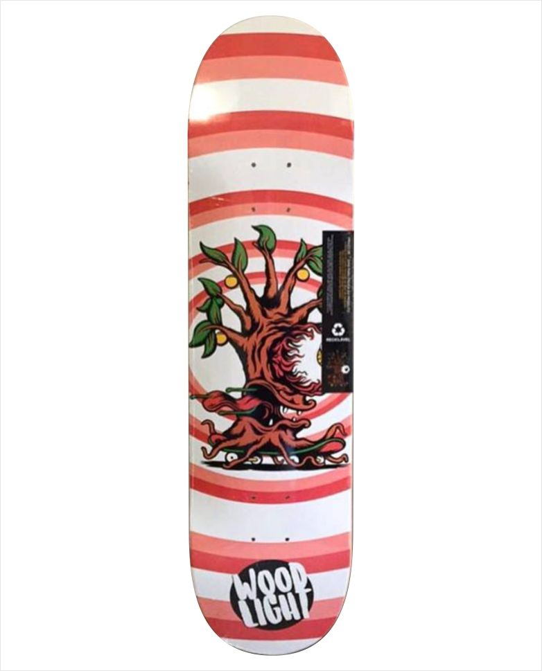 """Shape Wood Light - Wood Eight Wood Char Vermelho 8.0""""  - No Comply Skate Shop"""