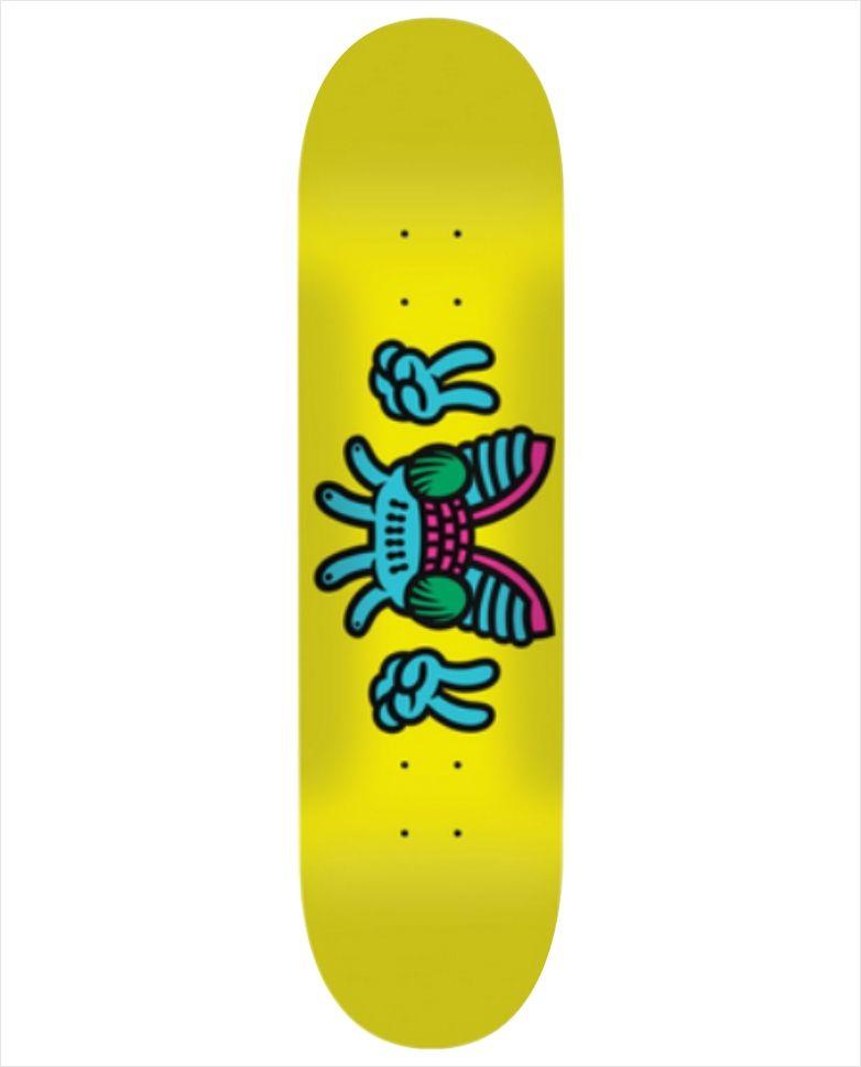 """Shape Yerbah - Marfim Heat Transfer Moscão Yellow 8""""  - No Comply Skate Shop"""