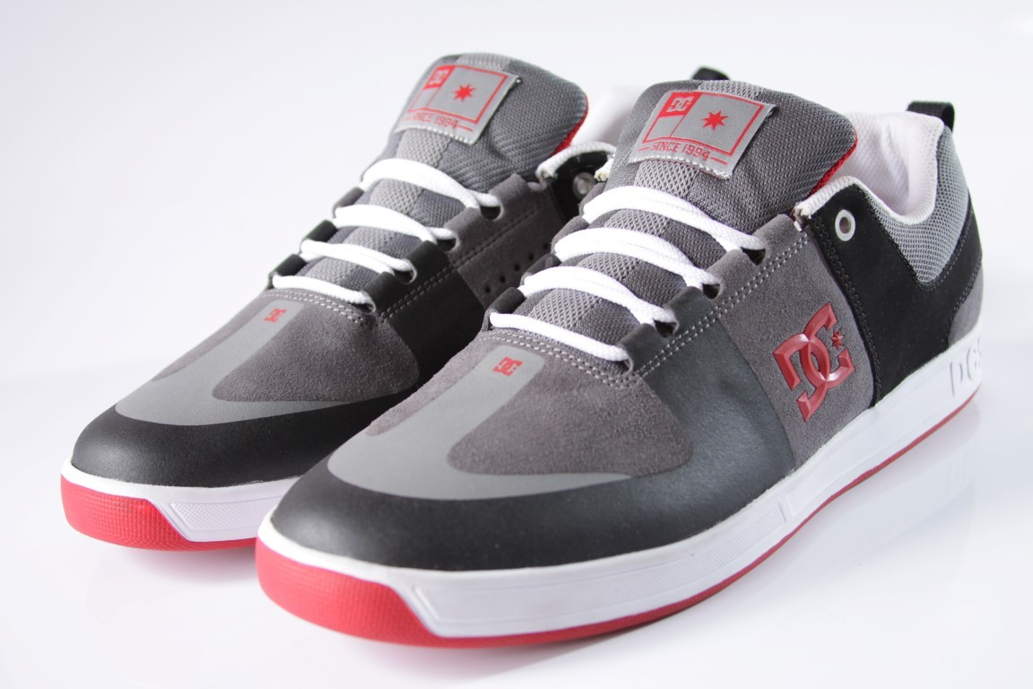 Tênis DC Shoes - Lynx Prestige S Black/Grey/Red  - No Comply Skate Shop