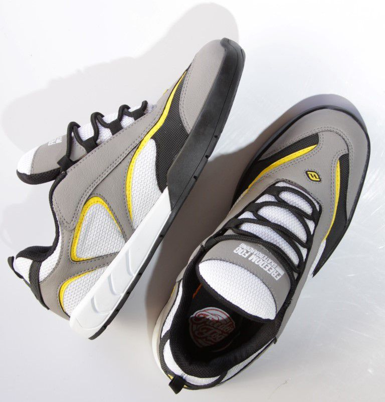 Tênis Freedom Fog - Elect Cinza/Branco  - No Comply Skate Shop
