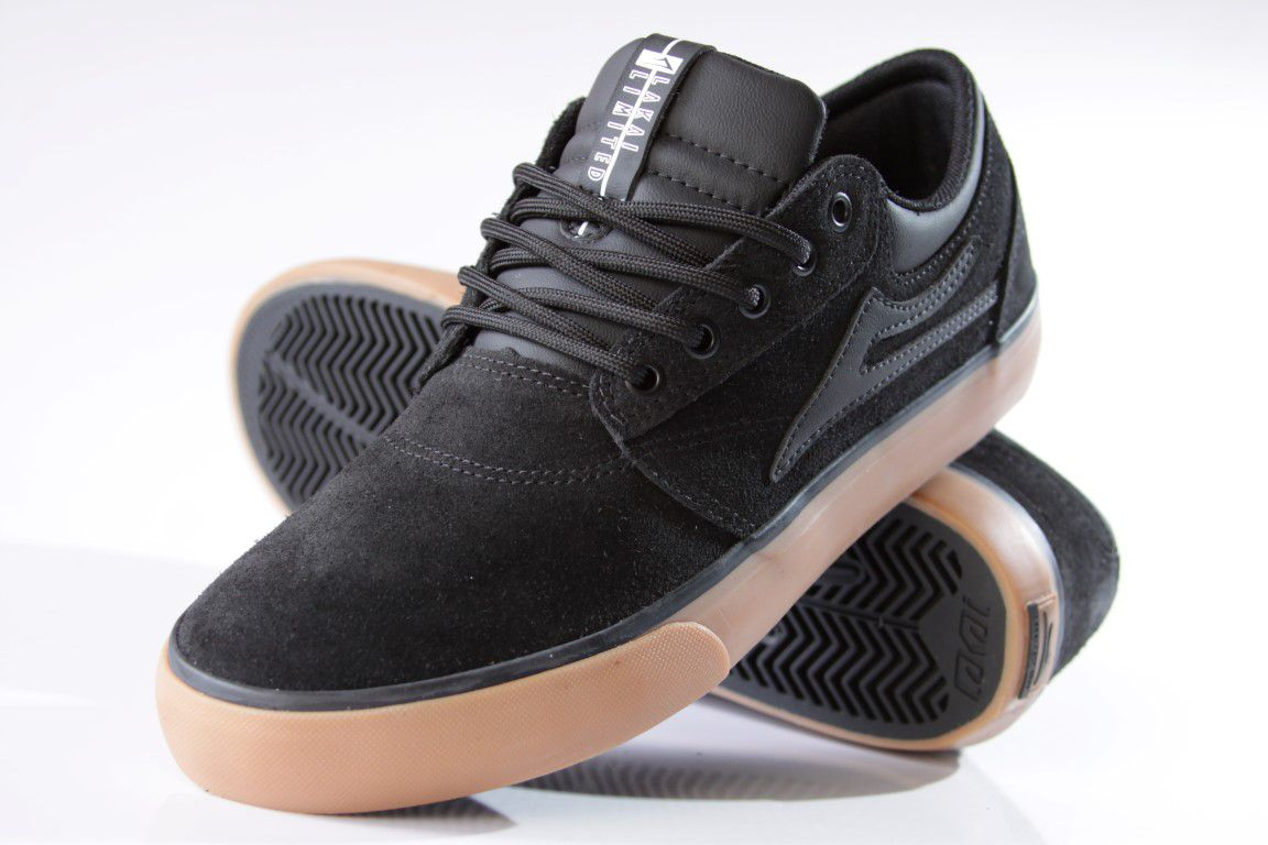 Tênis Lakai - Griffin SD Suede Black/Gum  - No Comply Skate Shop