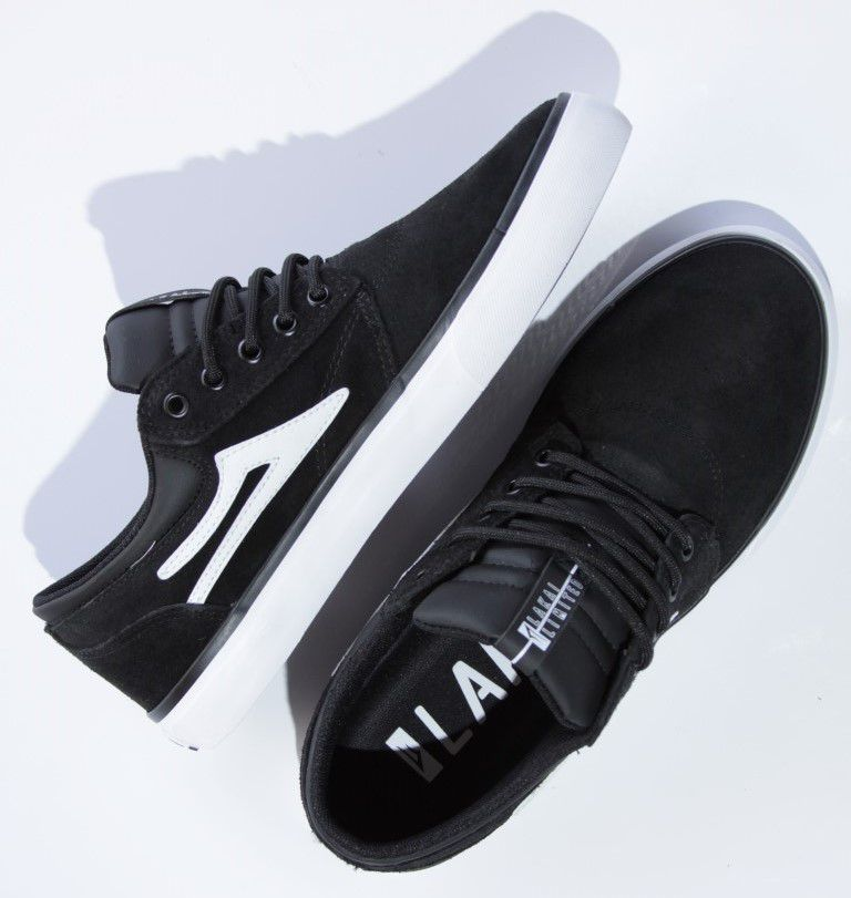 Tênis Lakai - Griffin SD Suede Black/White  - No Comply Skate Shop