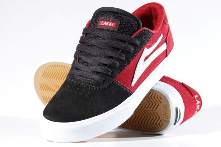 Tênis Lakai - Manchester Red/Black/White  - No Comply Skate Shop