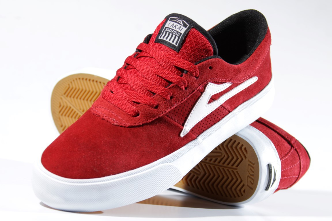 Tênis Lakai - Sheffield SD Red/White  - No Comply Skate Shop