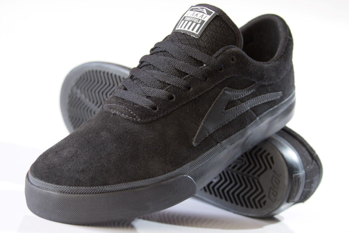 Tênis Lakai - Sheffield SD Suede Black/Black  - No Comply Skate Shop