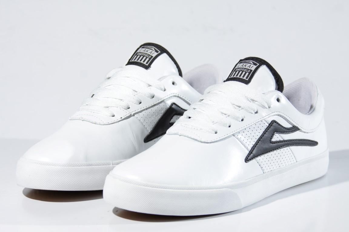 Tênis Lakai - Sheffield SD White Black Leather  - No Comply Skate Shop