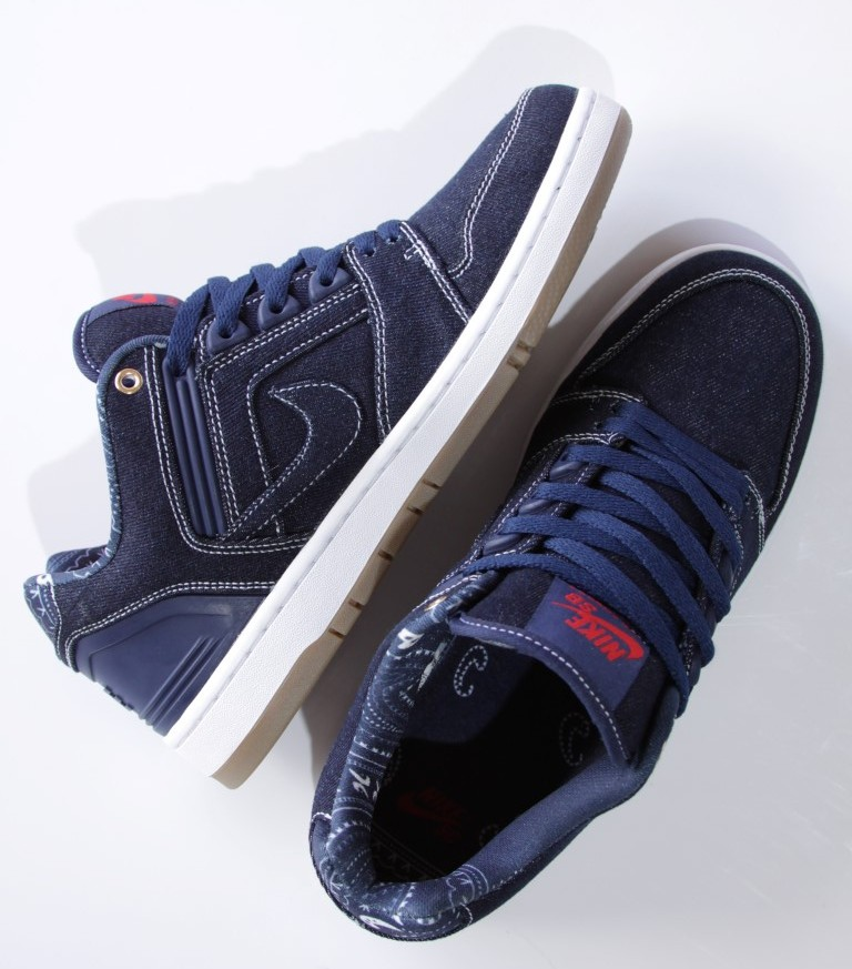 Tênis Nike SB - Air Force II Low QS X Tupac Shakur Binary Blue/White  - No Comply Skate Shop