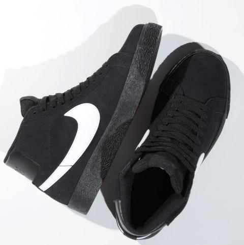 Tênis Nike SB - Blazer Zoom Mid Black/White-Black  - No Comply Skate Shop