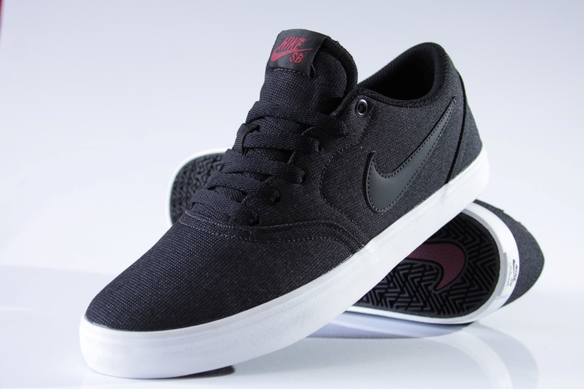 3f4725366 ... Tênis Nike SB - Check Solar Canvas Black/Black-Team Red - No Comply ...