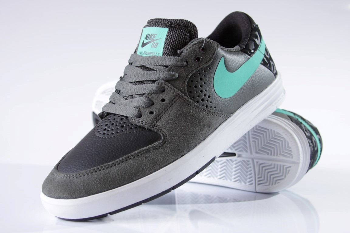 Tênis Nike SB - Paul Rodriguez 7 Dark Base Grey/Crystal Mint  - No Comply Skate Shop