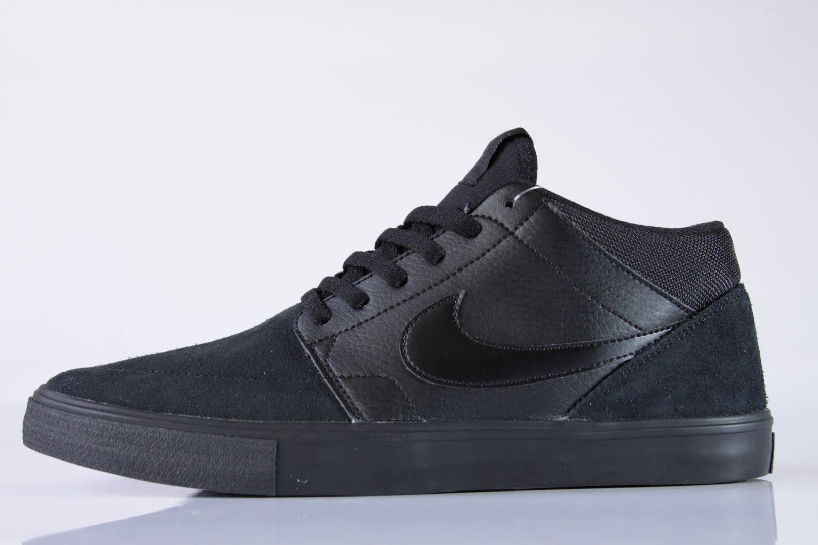 Tênis Nike SB - Portmore II Solarsoft Mid Black/Black-Anthracite  - No Comply Skate Shop
