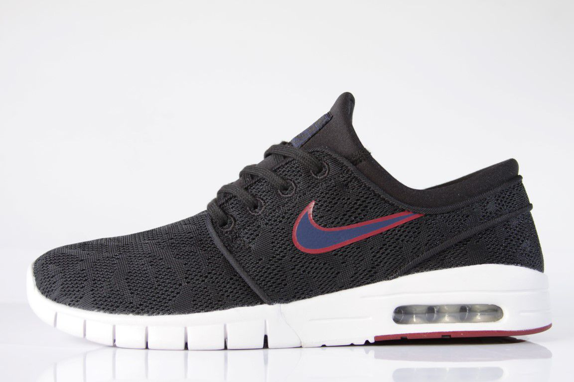 Tênis Nike SB - Stefan Janoski Max Black/Blue Void Noir  - No Comply Skate Shop