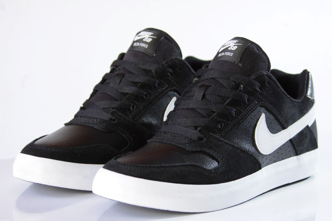 Tênis Nike SB - Zoom Delta Force Vulc Black/White  - No Comply Skate Shop