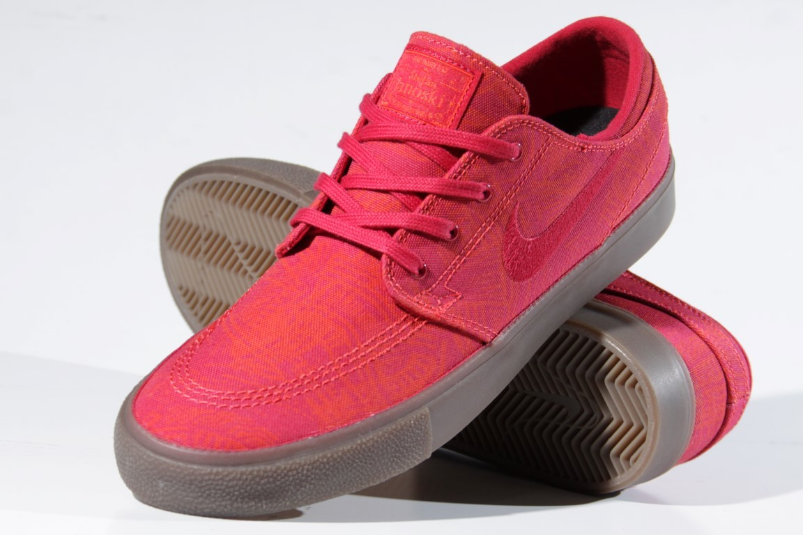 Tênis Nike SB - Zoom Stefan Janoski Canvas RM PRM Chile Red/Cardinal Red  - No Comply Skate Shop