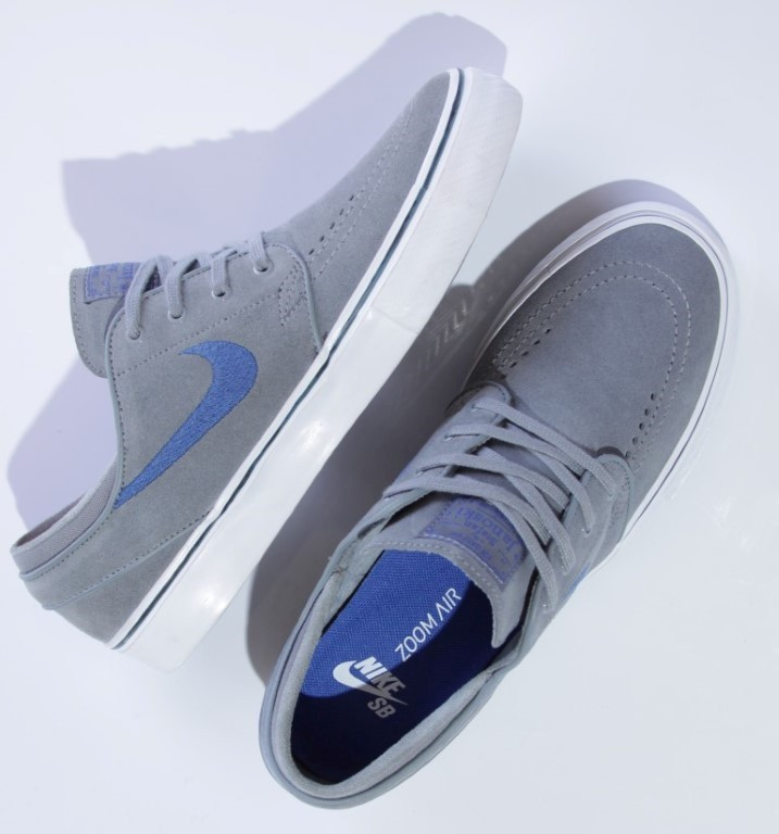 Tênis Nike SB - Zoom Stefan Janoski Cool Grey/Game Royal-Squadron Blue  - No Comply Skate Shop