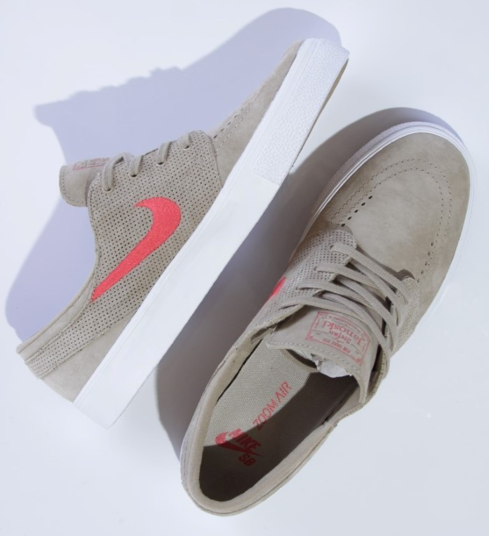 buy online 00fe0 7adb5 ... Tênis Nike SB - Zoom Stefan Janoski HT Khaki Track Red - No Comply Skate  ...