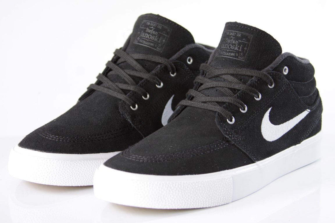 Tênis Nike SB - Zoom Stefan Janoski Mid RM Black/White  - No Comply Skate Shop