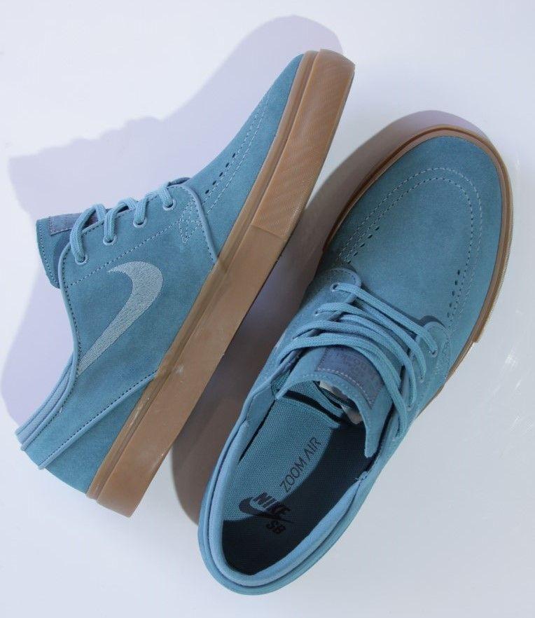 Tênis Nike SB - Zoom Stefan Janoski Noise Aqua/Thunder Blue  - No Comply Skate Shop