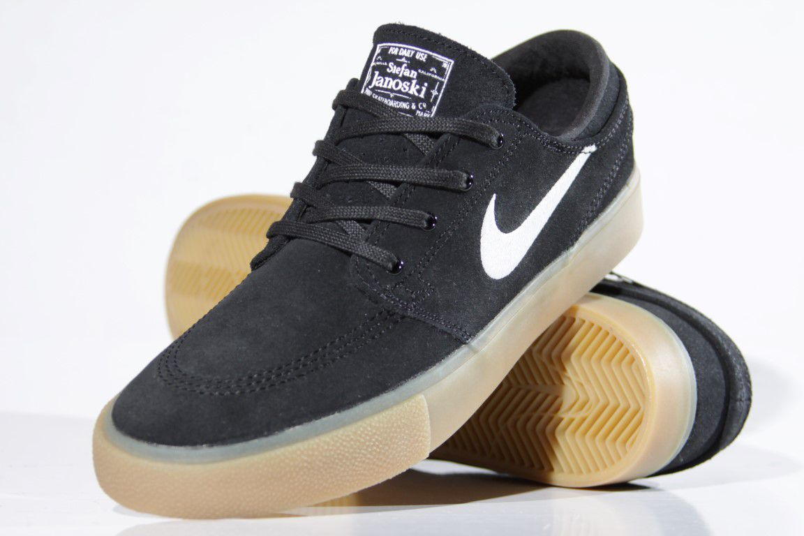 Tênis Nike SB - Zoom Stefan Janoski RM Black/Gum  - No Comply Skate Shop