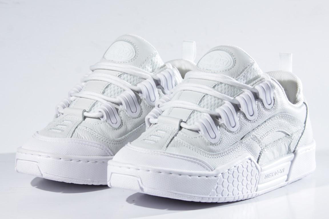 Tênis Qix - Hexagon Branco/Branco (Couro)  - No Comply Skate Shop