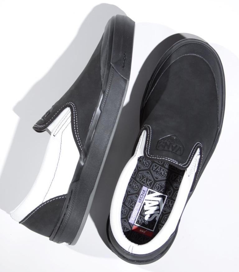 Tênis Vans - BMX Slip-On Pro (Dak) Black/White  - No Comply Skate Shop