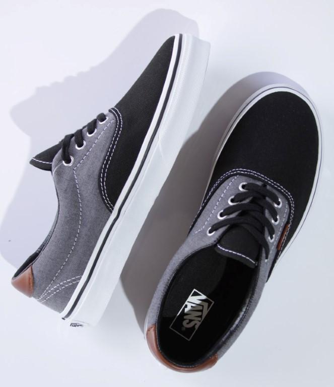 Tênis Vans - Kids Era 59 Black (Canvas & Chambray)  - No Comply Skate Shop