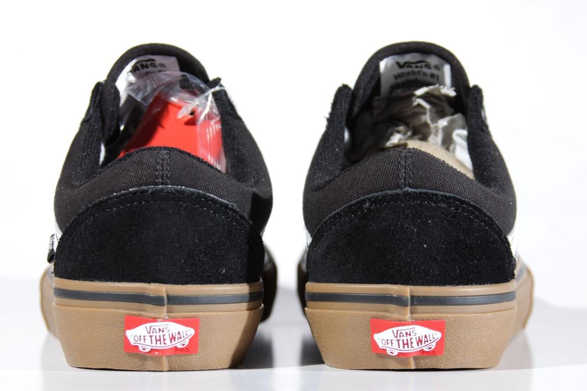 Tênis Vans - MN Old Skool Pro Black/White/Medium Gum  - No Comply Skate Shop