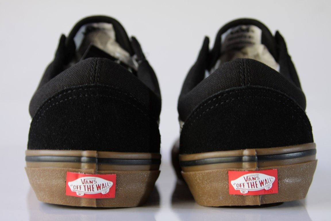 Tênis Vans - MN Old Skool Pro Black/White/Medium Gum  - No Comply Skate Shop