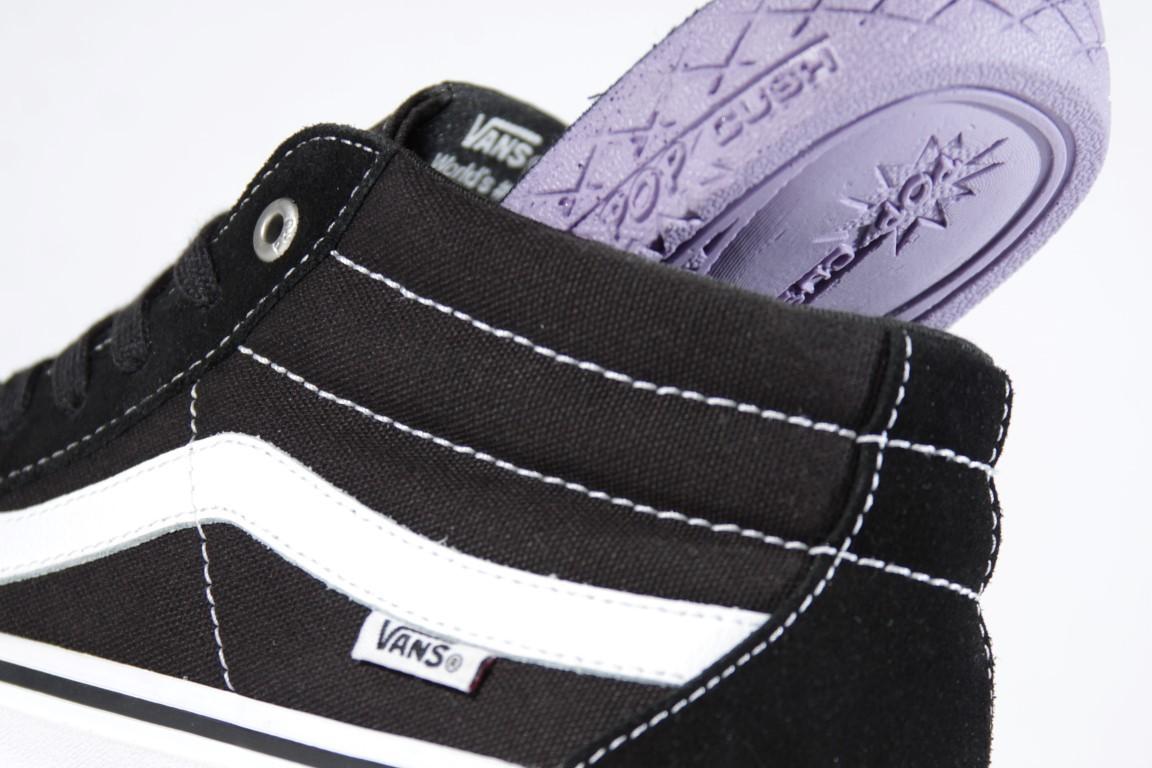 Tênis Vans - MN SK8-Mid Pro Black/White  - No Comply Skate Shop