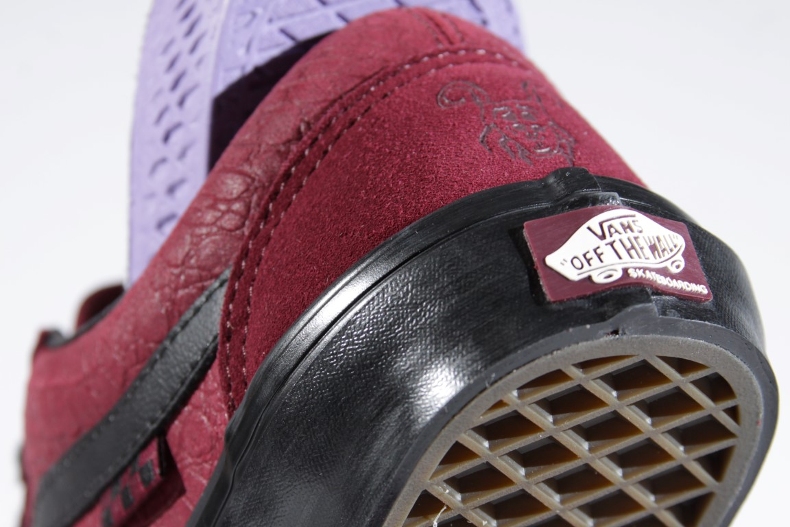 Tênis Vans - Old Skool Pro (Breana Geering) Port/Black  - No Comply Skate Shop