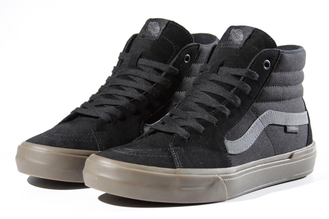 Tênis Vans - SK8-High Pro BMX Black/Dark Gum  - No Comply Skate Shop