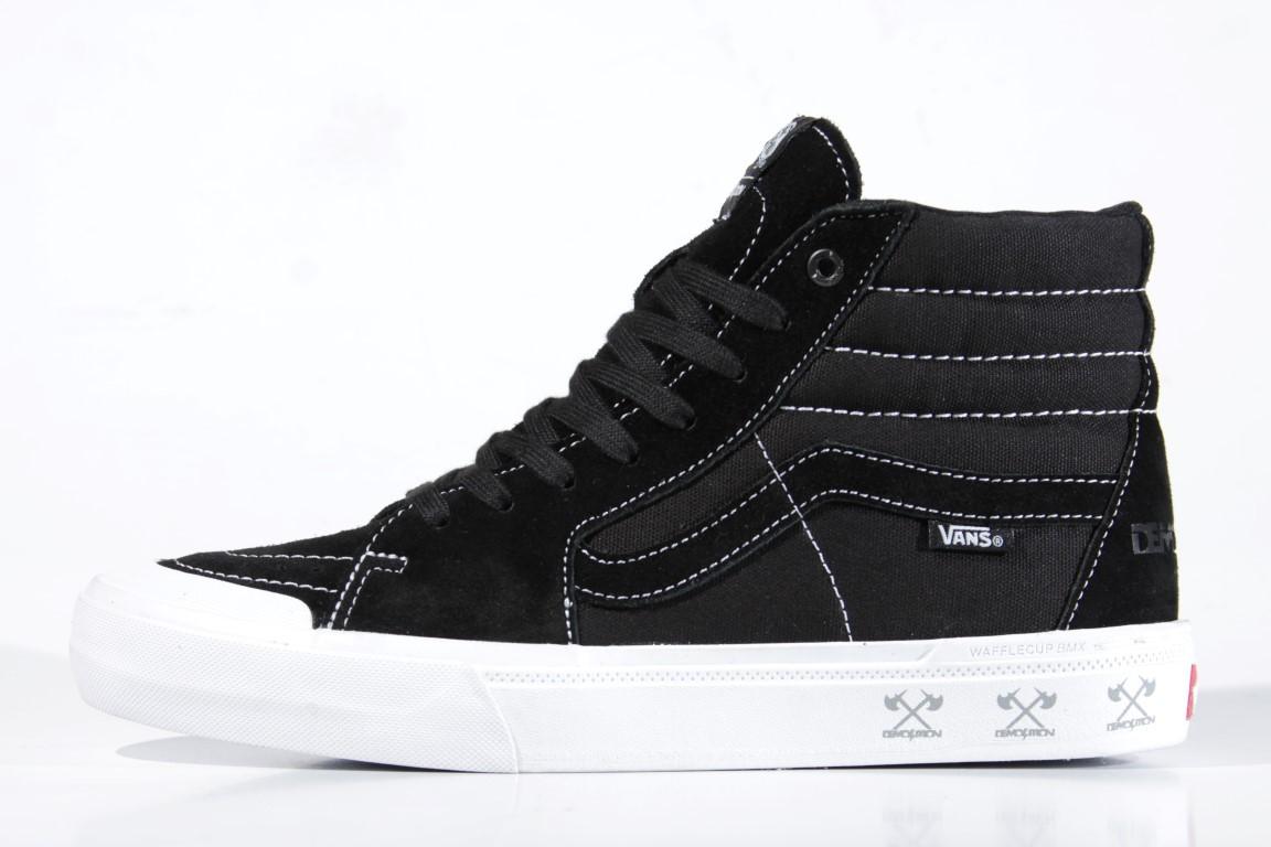 Tênis Vans - SK8-High Pro BMX (Demolition) Black/White  - No Comply Skate Shop