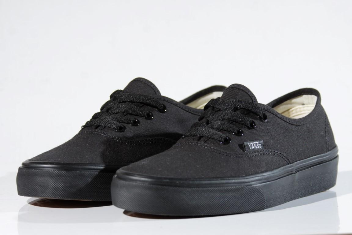 Tênis Vans - U Authentic Black/Black  - No Comply Skate Shop