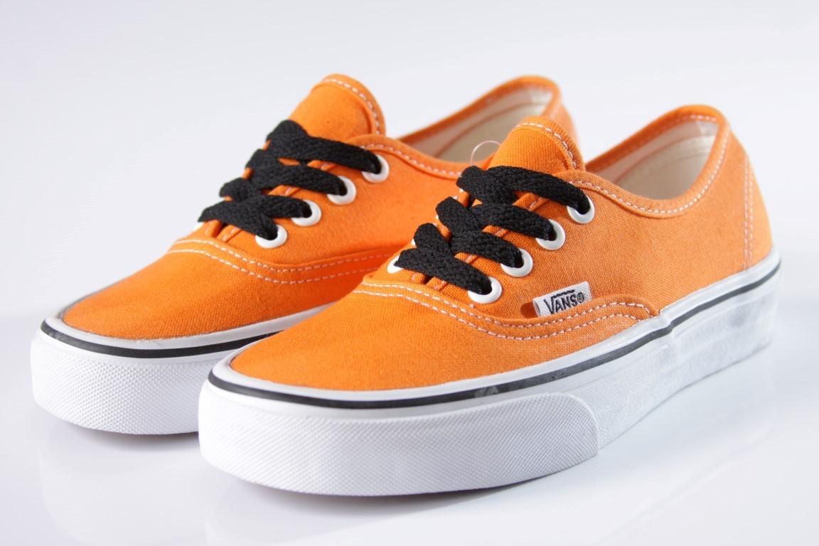 Tênis Vans - U Authentic Orange/True White  - No Comply Skate Shop