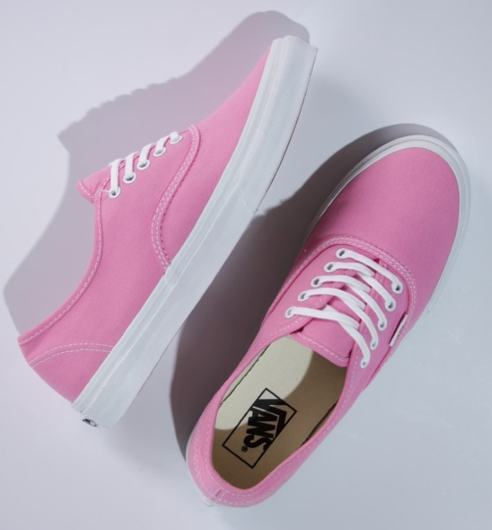 Tênis Vans - U Authentic Slim Sachet Pink/True White  - No Comply Skate Shop