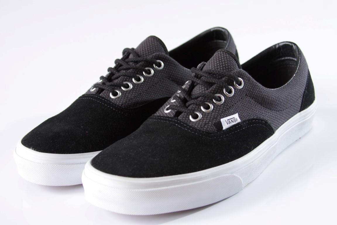 Tênis Vans - U Era Black/True White (Hemp)  - No Comply Skate Shop