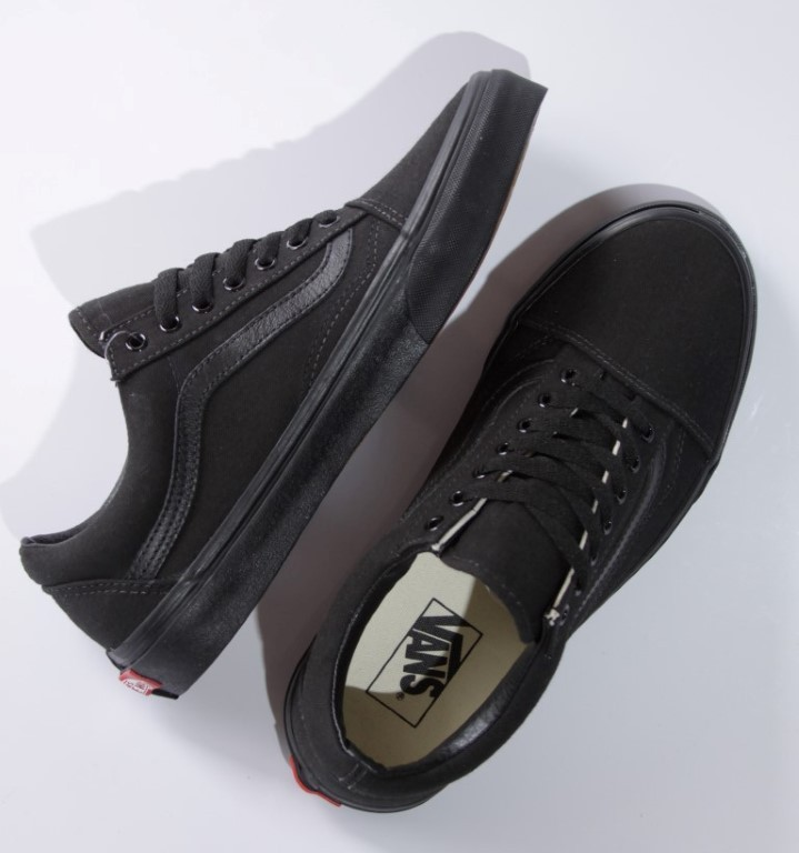 Tênis Vans - U Old Skool Black/Black (Canvas)  - No Comply Skate Shop