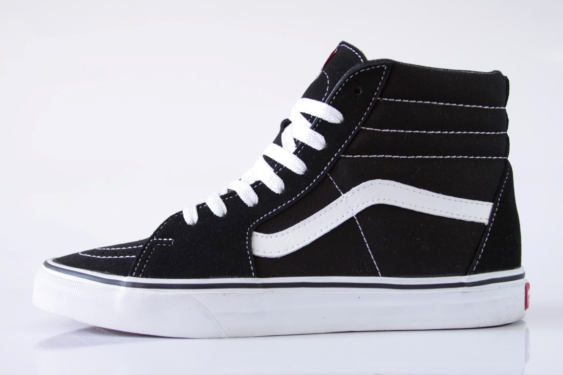 Tênis Vans - U Sk8 High Black/Black/White  - No Comply Skate Shop