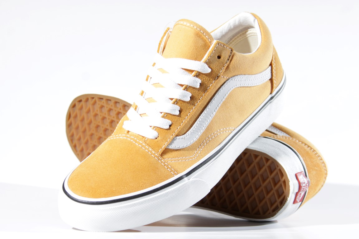 Tênis Vans - UA Old Skool Golden Nugget/True White  - No Comply Skate Shop