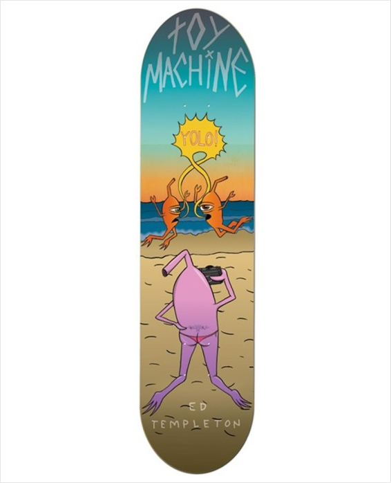 "Shape Toy Machine - Templeton Beach Life 8.0""  - No Comply Skate Shop"